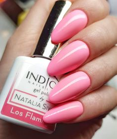 Los Flamingos Gel Polish from Miami Collection 2017 by Natalia Siwiec from Indigo Educator Renata Mastalska, Bielsko-Biala #nails #nail #nailsart #indigonails #indigo #hotnails #summernails #springnails  #omgnails #amazingnails #pinknails #pastelnails #miaminails #miami #nataliasiwiec #thinkpink