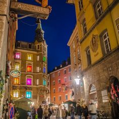 Innsbruck, Austria - the historic, medieval area of the Old Town Christmas Market