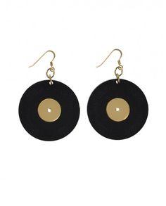 Hula Hoop AW15 // Vinilo Earrings // 18 euros (originally 24 euros) (sale 15 euros)