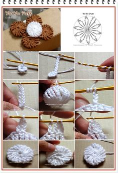 enrHedando: Como hacer Yo-yos de Crochet Tutorial