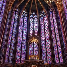 gorgeous stained glass // paris, france
