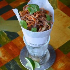 Pig Ear Fries at American Seasons | It's hard to imagine a more addictive (if unlikely) bar snack than Pig Ear Fries from American Seasons, one of Nantucket's reigning fine dining destinations.