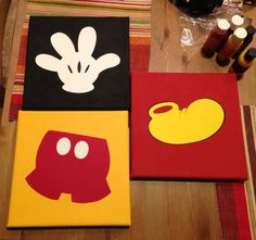 Mickey Mouse Party artwork using cricut