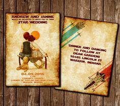 Partecipazione matrimonio stile Star Wars - Star wars wedding invitation di COLORIdiGIO su Etsy