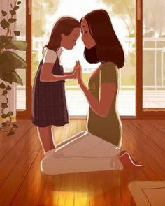 Risultati immagini per pascal campion guy illustration Mother Daughter Quotes, Mom Daughter, Mother And Child, Mother Art, Daughters, Pascal Campion, Foto Baby, Get Happy, Children's Book Illustration