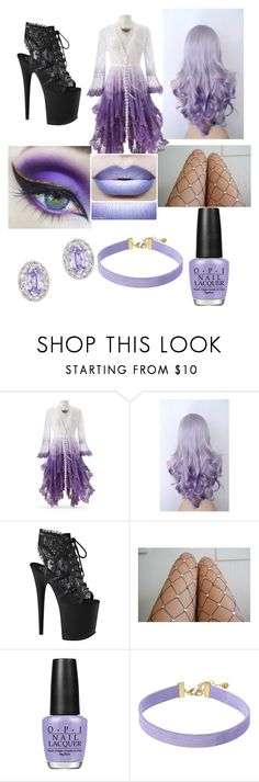 """Espeon Roleplay"" by blossom-galaxy666 on Polyvore featuring Pleaser, Lirika Matoshi, OPI, Vanessa Mooney and Swarovski"