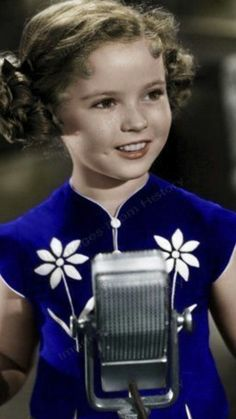 Beautiful color photo of Shirley Temple.