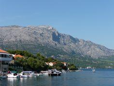 The coastline of Korcula, Croatia