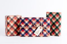 Lumberjack Plaid Wrapping Paper by NormansPrintery on Etsy, $12.00