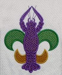 Craw De Lis Applique - 5x7 | Featured Products | Machine Embroidery Designs | SWAKembroidery.com