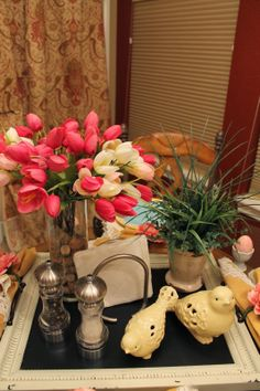 Spring tablescapes past and present