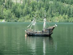 The pirate ship 'Obsidian' on the lake in Nelson. by arrowlakelass, via Flickr