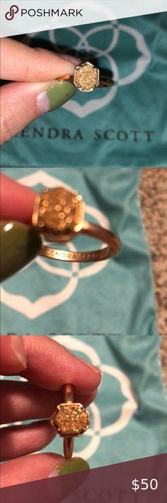 Kendra Scott Midi Ring Thick Gold Band NWT Dust Bag