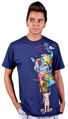 ONE OF THE 1ST I BOUGHT  The Painter T-shirt by sebasebi from Design By Humans. Grab some colors and some brushes. The painter shirt is the inspiration of the artist, the colors, the design, and the imagination. Reds, yellows and blues make a beautiful mural on this artsy shirt.