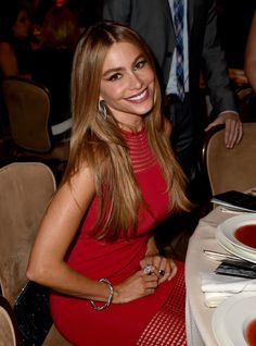 At the Hollywood Foreign Press Association's Grants Banquet, Sofia Vergara's caramel locks brought out the shimmer in her bronze eyeliner.