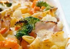 Freezer-Friendly Recipes To Make Ahead Of Time - Chicken and Veggie Pasta au Gratin