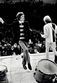 Mick Jagger and Brian Jones performing while on a U. tour - Photo by Bob Bonis. Rock N Roll, Rock And Roll Bands, Rock Bands, Rolling Stones, Moves Like Jagger, British Rock, Mick Jagger, My Favorite Music, The Beatles