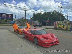 Ferrari F50 spotted in Wynwood, Florida