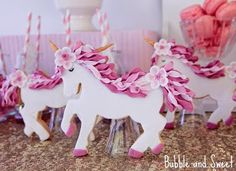 Unicorn cookies~                          By bubble and sweet, # white, pink