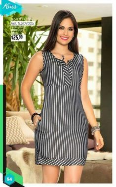 Swans Style is the top online fashion store for women. Shop sexy club dresses, jeans, shoes, bodysuits, skirts and more. Cute Dresses, Casual Dresses, Casual Outfits, Fashion Dresses, Summer Dresses, Mode Style, Dress Patterns, African Fashion, Striped Dress