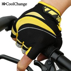 Coolchange style outdoor professional Road Bike Bicycle Half Finger Cycling Gloves for Men sport glove 2 colors