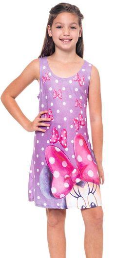 Minnie Mouse Polka Dot Bows Girls Tank Dress