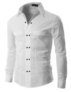 Amazon.com: Doublju Mens Half Tie Shirts with Slim Fit: Clothing