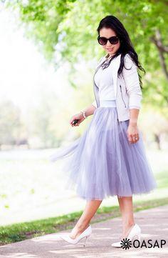 Fashion Mesh Layered Maxi Skirt - OASAP.com