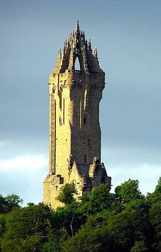 William Wallace Monument, Stirling, Scotland - (246 stone spiral steps).