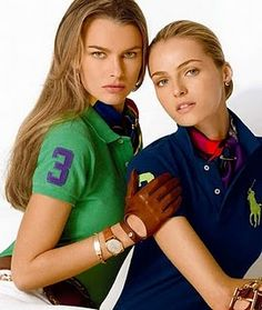 Ralph Lauren rugby polos and leather gloves ♥ Preppy Girl, Preppy Look, Preppy Style, Rugby Shirts, Camisa Polo, Moda Fashion, Fashion 101, Prep Fashion, Fashion Clothes