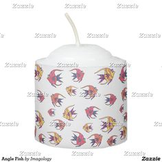 When the sun goes down the lights don't have to go out thanks to Zazzle's Angel candles. Shop our great designs for yourself or to give as gifts! Votive Candles, Candle Holders, Fish, Lights, Design, Porta Velas, Design Comics, Lighting, Lamps