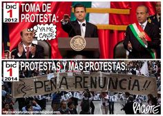 CARICATURISTA PACOTE: PEÑA NIETO DE LA TOMA DE PROTESTA A LAS PROTESTAS