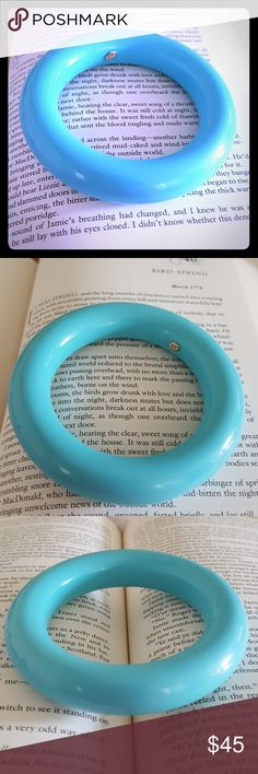 """🎀 Vintage KJL Tiffany blue resin bangle 🎀 Simply adorable! This solid resin bangle is a perfect circle, with an almost completely round surface. In perfect, like new condition, you will not find another piece like this! Inside diameter measures 2.75"""" and outside measures just under 4"""". Solid piece. EUC BUNDLE & SAVE  POSH RECOMMENDED SELLER Kenneth Jay Lane Jewelry Bracelets"""