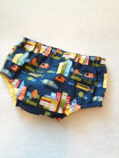 Cake smash diaper cover. Medium Baby Diaper Cover in blue city buildings by TeddyBoyStyle