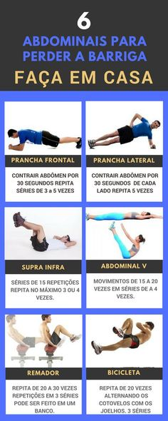 Como perder ou secar a barriga com 7 exercícios! Aprenda 7 exercícios para perder a barriga, que você pode fazer na sua casa em alguns minutos por dia e com ótimos resultados.