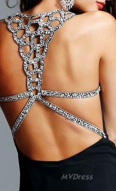 A-Line Black Dress V-neck Chiffon Dress