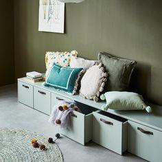 Ikea Minnen Bed, Ikea Stuva, Knole Sofa, Ikea Bench, Scandinavian Kids Rooms, Architecture 3d, Boys Room Design, Kids House, Room Inspiration