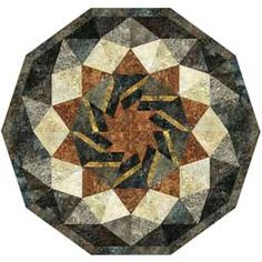 """Moroccan Tile Quilt finished size 45""""x47""""  I like this medallion design from Clotilde."""