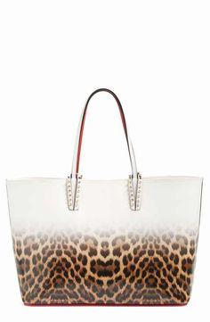 Christian Louboutin Cabata Leather Tote Leopard Spots 06f1d3755023e