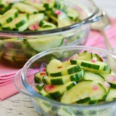 Sweet and Spicy Cucumber Salad recipe