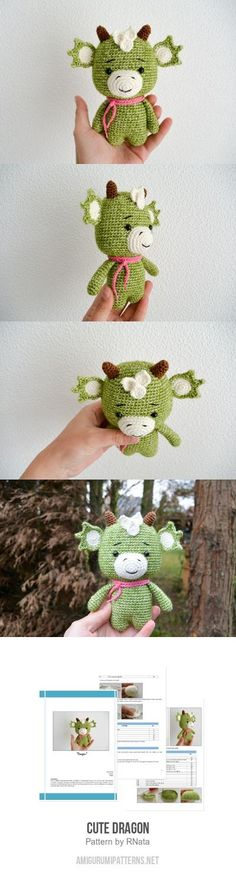 Cute Dragon Amigurumi Pattern