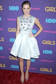 Girls Season Three Premiere Party, New York - January 6 2014 | Allison Williams arrived in a dress, heels and jewellery all by Dior.