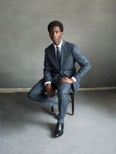 Todd Snyder Black Label Suits #MadeInTheUSA Model #AdonisBosso