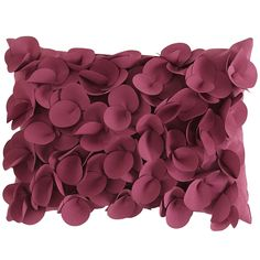 You just want to touch it, don't you? We understand. You won't be disappointed once you get your hands on these pretty, dimensional petals. And your outdoor furniture won't be disappointed either, once it's been adorned with this bright, stylish, weather-resistant pillow.