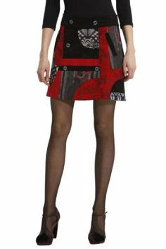 Desigual Women's Button Short Mini Skirt Izala