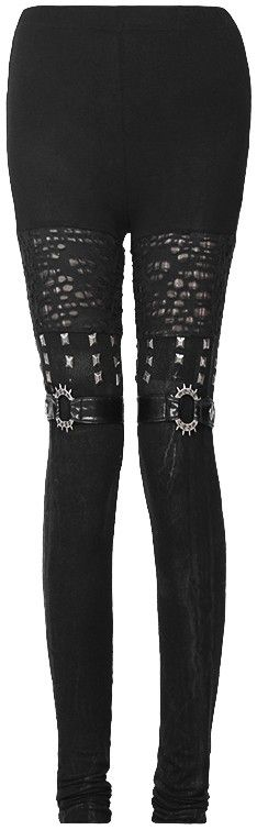 Gothic leggings boot look with rivets
