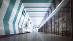 Visualization of a futuristic subway in Vienna. 3d Visualization, 3d Artist, Vienna, Futuristic, A Team, Transportation, Stairs, Stairway, Staircases