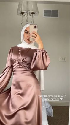 Wedding Dresses For Kids, Simple Bridesmaid Dresses, Modest Dresses, Modest Outfits, Simple Dresses, Pretty Dresses, Beautiful Dresses, Modern Hijab Fashion, Hijab Fashion Inspiration