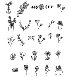 25 Floral Doodles for your Bullet Journal Obsessed with Floral Doodles? Me too! Check out these 25 simple floral doodles you can add to your bullet journal with free PDF printable included. Bullet Journal Writing, Bullet Journal 2019, Bullet Journal Ideas Pages, Bullet Journal Inspo, Bullet Journals, Bullet Journal Table Of Contents, Bullet Journal Weekly Spread Ideas, Bullet Journal How To Start A Simple, Bullet Journal Inspiration Creative
