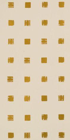 KELLY WEARSTLER   CHALET METALLIC WALLPAPER. In Ivory/Gold